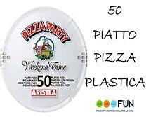 PIATTO PIZZA PZ.50 PLASTICA BIANCHI PARTY MONOUSO PIZZERIE PUB