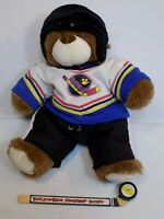 The Build a Bear Ice Hockey Jersey Helmet Player + Good Stuff Plush Teddy LOT