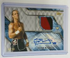 2017 TOPPS LEGENDS OF WWE - SILVER RELIC AUTO #18/50 - SHAWN MICHAELS