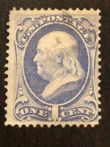 US Stamp Scott #145 1c Ultramarine Franklin w/ Light Cancel SCV - $20