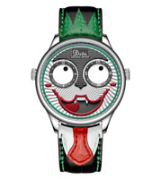 Men's Watch New Designer Limited Edition Retro Quartz Joker Clown Cosplay Green