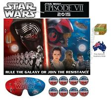 Star Wars 7 Party Game Birthday Decoration Decorating Kit Pack Supply Poster boy