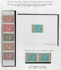 Mauretanien - 1973 Weltposttag - colour proof & deluxe proof - postfrisch - RAR