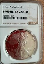 1993 American Silver Eagle Ultra Cameo pf69 Ngc