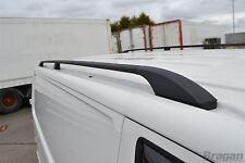 To Fit 04 - 15 VW Transporter T5 Caravelle SWB Black Aluminium Roof Rails Steel