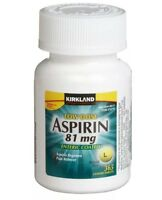 Kirkland Low Dose Aspirin 81mg Enteric Coated NSAID 365 Tablets Pain Reliever