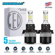 H13 9008 CREE LED Headlight Conversion Kit HI-LO Beam Bulbs 6000K 1320W 198000LM