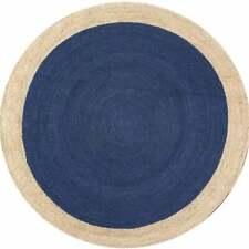 Braided Bohemian Jute Area Rugs Round Rag Home Decor Shape Circle Mat 12x12 feet