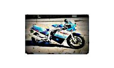 1985 gsxr750f Bike Motorcycle A4 Retro Metal Sign Aluminium