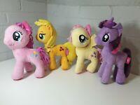 My Little Pony Applejack,Fluttershy twilight & Pinkie Pie Soft Toy Bundle
