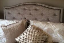 """New Design Dews Buttoned Studded Bed Headboard in Crushed Velvet in 30"""" Height"""