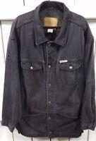 Boss - Men's Distressed Denim Jacket - Black 100% Cotton - Size X-Large