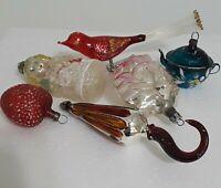 Vintage Mercury Glass Christmas Ornament Lot
