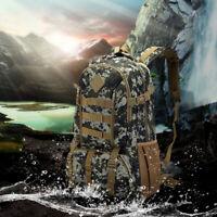 50L Unisex Tactical Backpack Rucksack Camping Hiking Trekking Bag Outdoor Bags @