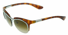 RARE New Genuine PRADA Tortoise Silver Cat Eye Sunglasses PR 68OS SPR 68O 1BC6S1