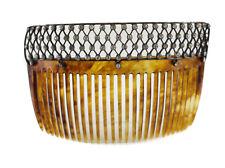 Fishel Nessler & Co Sterling Silver Hair Comb c1910, openwork design w/ Crystals