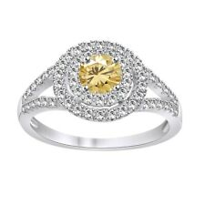Ring 18K White Gold Plated ValentineÂ's Day Round Simulated Diamond Engagement