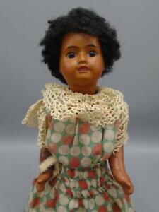 """Antique French Bisque SFBJ Doll Unis #60 Mulatto Brown Skin Doll 11"""""""
