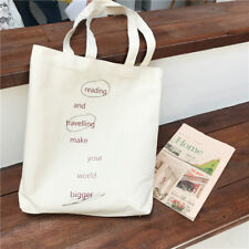 Cotton Canvas Eco Shopping Tote shoulder Bag Print Reading Travelling A210 S#