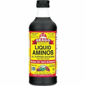 Bragg Liquid Aminos All Purpose Seasoning – Soy 16 Fl Oz (Pack of 1),