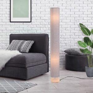 HOMCOM Tall Floor Lamp Lighting w/ Fabric Shade for Bedroom Living - Grey