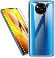 Coque Silicone TPU Transparente + Verre Trempe Pour Xiaomi Poco X3 Pro / Poco X
