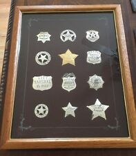 "FRANKLIN MINT STERLING SILVER ""THE OFFICIAL BADGES OF THE GREAT WESTERN LAWMEN"""