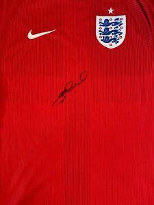 STEVEN GERRARD HAND SIGNED SHIRT - ENGLAND - FOOTBALL SHIRT.