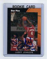 1991 HORNETS Larry Johnson signed Rookie card Star Pics #18 AUTO Autograph UNLV
