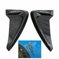 Black Car SUV Wheel Fender Emblem Sticker Side Body Kit Moulding Decoration Fin