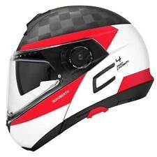 Motorcycle Helmet Modular Carbon Fiber Schuberth C4 pro Carbon Ece Delta White
