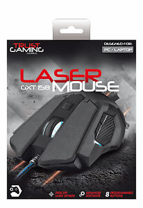 TRUST 20324 GXT 158 GXT158 LASER GAMING MOUSE WITH PROGRAMMABLE BUTTONS 5000 DPI