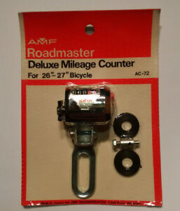 Roadmaster Deluxe Bicycle Mileage Counter / NOS