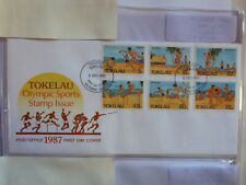 TOKALAU 1987 OLYMPIC SPORTS SET 6 STAMPS FDC FIRST DAY COVER