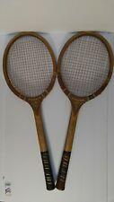 Pair of Vintage Sovereign Tennis Rackets Wood Laminate