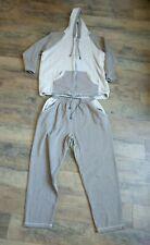 Women's Plus Size XL Sweatsuit 2 Piece Fleece Hoodie & Pants Beige Brown