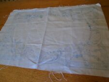 VINTAGE STAMPED EMBROIDERY  TRAY CLOTH  - TABLE TOPPER