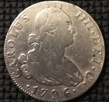 1796 Spain 4R Reales Silver Coin Charles IIII