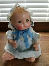 "10"" Vintage  Effanbee ""Patsy Baby"" Compo Baby Doll Near Mint Original Outfit"