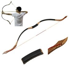 Horse Longbow Traditional 50lbs Archery Hunting Handmade Recurve Bow Mongolian