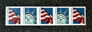 2010USA #4486-4487 Lady Liberty Flag PNC Plate Number (#P111111)Coil Strip 5 APU