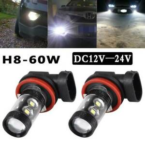 2pc H11 H8 Super White Bright SMD LED Sidelight Fog Daytime Light Bulbs DRL Lamp