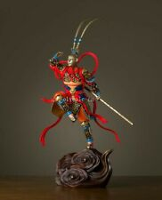 23'' bronze brass copper freehand colored drawing Sun Wukong monkey king statue