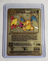 Pokemon 1st Edition Charizard 4/102 Base Set Shadowless Metal Custom Card Set
