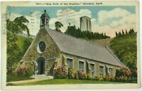 Postcard Wee Kirk Of The Heather Church Chapel Glendale California CA Vintage