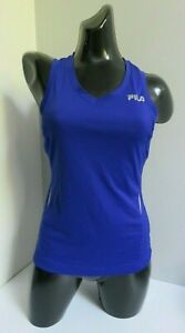 FILA SPORT WOMENS RUNNING SPORTS EXERCISE STRETCH SLEEVELESS VEST TOP XS X SMALL