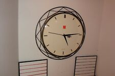 Frank Lloyd Wright Luxfer Prism Bulova Wall Clock Quartz sweep second hand clock