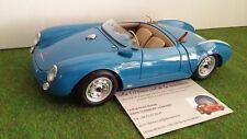 PORSCHE 550 A Spyder bleu cabriolet 1/18 SCHUCO 450033000 voiture miniature coll