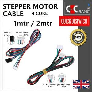 Nema17 4 wire Stepper Motor Cable with 4 Pin Dupont 6Pin HX2.54mm JST Connector