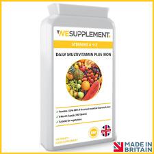 Multi Vitamins & Minerals A-Z Tablets Vitamin C, A,D,E Immune Support 100% RDA